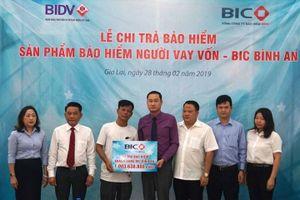 BIC chi trả bảo hiểm hơn 1 tỉ đồng cho khách hàng vay vốn tại Gia Lai