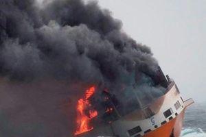 Pháp đối mặt nguy cơ ô nhiễm môi trường từ tàu hàng Italy bị chìm