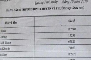 Quảng Ngãi: Lập danh sách thương binh 'ma' để trục lợi tiền tỷ chính sách