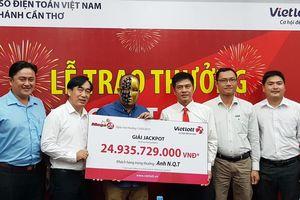 Vietlott trao giải Jackpot gần 25 tỷ đồng cho khách hàng may mắn đến từ Cần Thơ