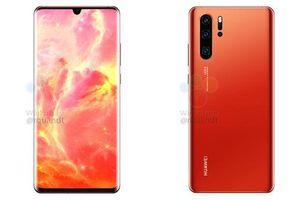 Huawei P30 được vát phẳng 2 đầu cùng màu đỏ nổi bật