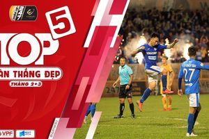 Clip: Top 5 bàn thắng đẹp nhất tháng 2 và tháng 3 ở V-League 2019
