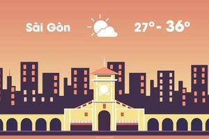 Thời tiết ngày 17/3: Sài Gòn nóng 36 độ C, Hà Nội mưa nhỏ