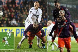 Swansea - Man City 2-3: Silva ghi bàn, Nordfeldt 'tặng' quà, Aguero giúp Pep giành vé vào bán kết