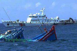 Sự thực vụ tàu cá Quảng Ngãi bị ép chìm ở Hoàng Sa