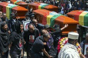 Ethiopia tổ chức lễ tang với những chiếc quan tài rỗng cho các nạn nhân vụ rơi máy bay
