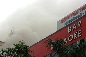 Đang cháy lớn ở khu khách sạn, karaoke, quán bar Nghệ An