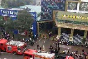 Nghệ An: Cháy lớn tại khu tổ hợp khách sạn Avatar, 4 người thương vong
