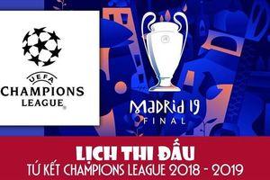 Infographic: Lịch thi đấu lượt đi tứ kết Champions League 2018/2019