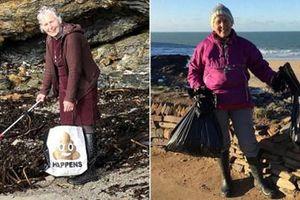 Bà lão U80 dọn 52 bãi biển/năm và thông điệp ý nghĩa