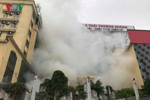 Một người tử vong trong vụ cháy tổ hợp khách sạn, bar, karaoke ở Vinh