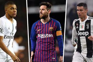 Cuộc đua 'Chiếc giày vàng' châu Âu: Messi hơn Ronaldo 20 điểm