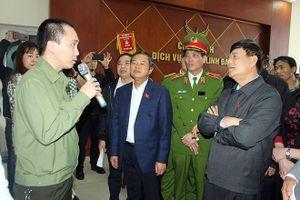 Đoàn giám sát của Quốc hội kiểm tra công tác phòng cháy chữa cháy tại Tổ hợp chung cư HH Linh Đàm