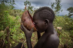 Rợn người bộ tộc uống máu tươi như uống nước