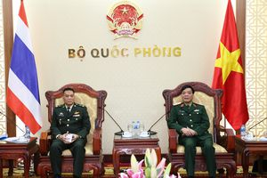 Phó Tổng Tham mưu trưởng QĐND Việt Nam tiếp đoàn Cục Chính sách Chiến lược, Bộ Quốc phòng Thái Lan