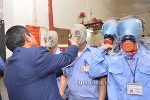 Phó Chủ tịch Quốc hội Đỗ Bá tỵ kiểm tra công tác pccc tại Tập đoàn Mường Thanh