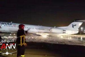 Máy bay chở 100 khách bốc cháy khi hạ cánh ở Iran
