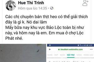 Tung tin sai về thịt lợn nhiễm sán trên facebook, một phụ nữ bị phạt 10 triệu đồng