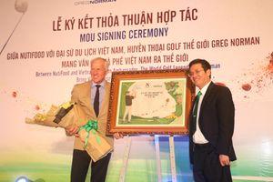 Cựu golf thủ số 1 thế giới Greg Norman quảng bá cà phê Việt ra thế giới