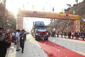 Lễ thông xe đường chuyên dụng vận tải hàng hóa cửa khẩu Tân Thanh