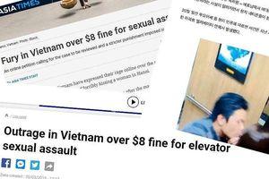 Báo chí quốc tế đưa tin ép hôn ở thang máy bị phạt 200 ngàn