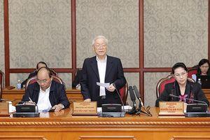 Bộ Chính trị cho ý kiến về báo cáo kết quả kiểm tra việc thực hiện Nghị quyết T.Ư 4 gắn với thực hiện Chỉ thị 05 tại 15 đơn vị