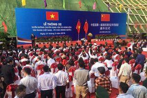 Thông xe tuyến đường chuyên dụng vận tải hàng hóa Việt - Trung