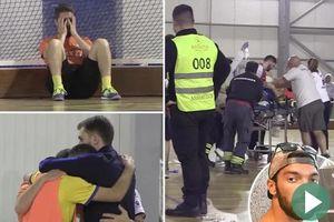 Đồng đội thảng thốt và bật khóc vì cầu thủ futsal đột quỵ khi đang thi đấu