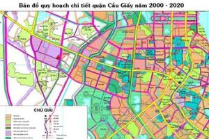 Bản đồ quy hoạch chi tiết quận Cầu Giấy, Hà Nội