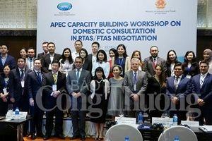 APEC nâng cao năng lực tư vấn trong nước trong đàm phán FTAs/RTAs