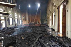 Cháy lớn ở nhà thờ giáo xứ Thọ Vực, Hà Tĩnh