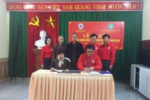 Hội Chữ thập đỏ tỉnh và Ban trị sự Giáo hội Phật giáo tỉnh Phú Thọ ký kết hoạt động nhân đạo