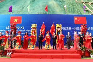 Thông xe tuyến đường bộ vận tải hàng hóa biên giới Việt – Trung