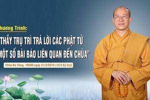 Điều tra hoạt động 'truyền vong báo oán' tại chùa Ba Vàng