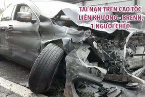 Xế hộp bay qua dải phân cách gây tai nạn trên cao tốc Liên Khương - Prenn, 1 người chết