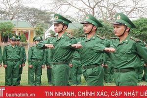 Chiến sỹ biên phòng Hà Tĩnh trưởng thành sau 1 tháng nhập ngũ