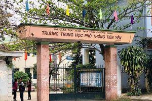 Gần 600 học sinh ở Quảng Ninh nghỉ học bất thuờng