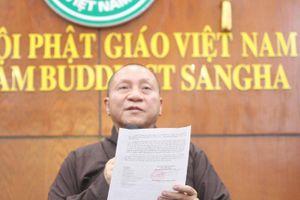 Đề xuất tạm đình chỉ tất cả chức vụ trong Giáo hội Phật giáo của sư trụ trì chùa Ba Vàng