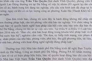 Hội Nhà báo lên tiếng vụ phóng viên Báo Người Lao Động bị hành hung