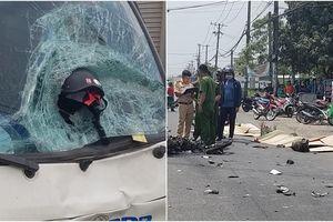 TP.HCM: Mũ bảo hiểm găm thẳng vào kính xe tải, đôi vợ chồng trẻ tử vong thương tâm sau cú đâm trực diện