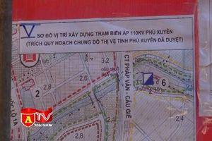 Hoàn thành bàn giao mốc giới xây dựng trạm biến áp 110kV Phú Xuyên