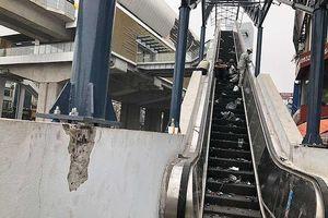 Đường sắt Cát Linh: Có chuyện tường, vách bị vỡ, nứt