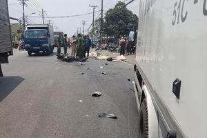 Xe máy đâm trực diện xe tải, 2 vợ chồng trẻ chết thảm