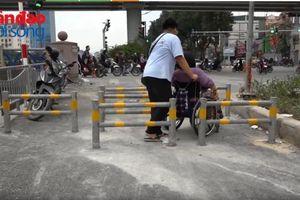 Người khuyết tật và barie hè phố