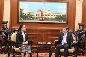 Chủ tịch UBND TPHCM tiếp tân Tổng Lãnh sự Lào