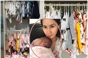 Hơn 1 tháng tuổi, con gái Thân Thúy Hà được mẹ sắm cả tủ đồ 'mặc mãi không hết'