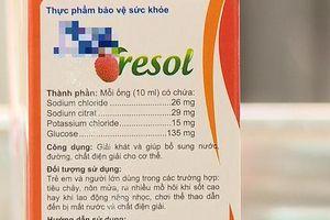 Bé trai ở Hà Nội suýt mất mạng vì bố mẹ cho uống thực phẩm chức năng dạng Oresol