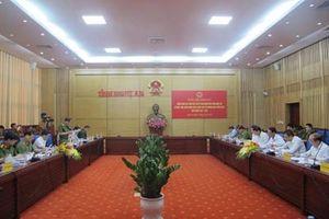 Đoàn giám sát của Quốc hội kiểm tra việc thực hiện chính sách, pháp luật về phòng cháy, chữa cháy tại Nghệ An