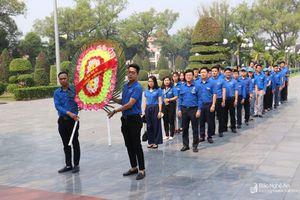 Tỉnh đoàn Nghệ An tổ chức hành trình 'theo dòng lịch sử'