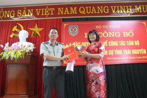 Trao quyết định bổ nhiệm Cục trưởng Cục Thi hành án dân sự Thái Nguyên